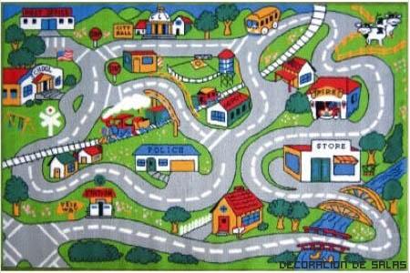 Alfombra infantil para sus habitaciones - Alfombra carretera ...