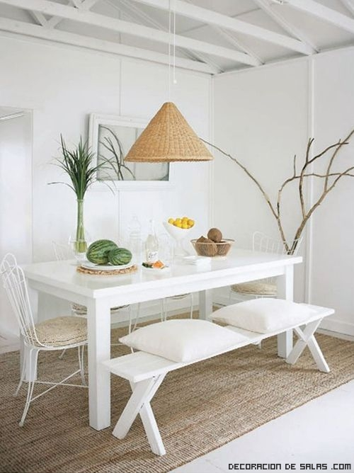 Ideas para un comedor en color blanco