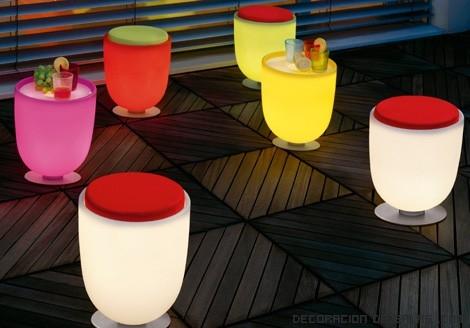 mesas de colores para terrazas