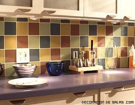 Azulejos de colores en la cocina - Azulejos de colores ...