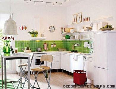 Azulejos de colores en la cocina - Azulejos para cocina modernos ...