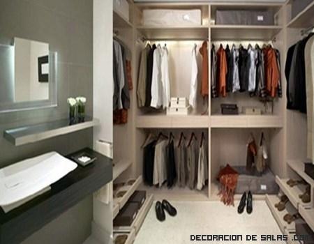 Baños con vestidor, una opción muy elegante