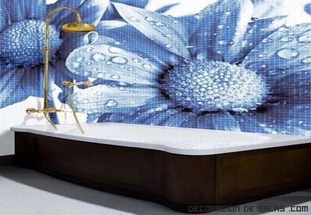Ba os decorados con mosaicos de azulejos - Azulejos mosaico bano ...