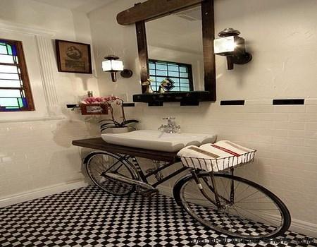 baños rústicos en madera