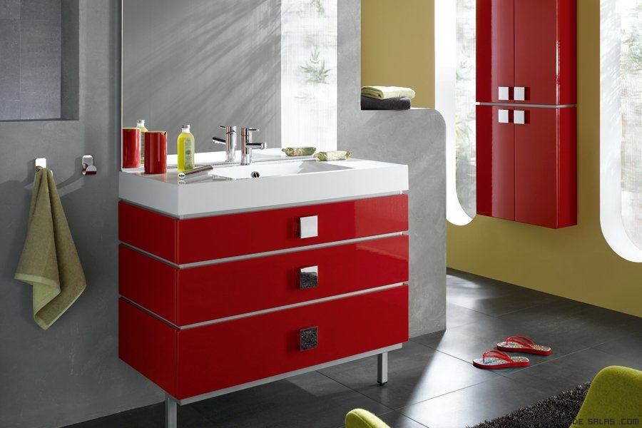 Decorar Un Baño Rojo:ideas para decorar un baño moderno