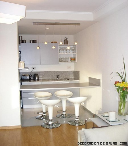 Tips para elegir la barra de la cocina - Taburetes para barra de cocina ...