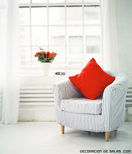 A ade butacas con rayas a tus habitaciones - Butacas para dormitorio ...