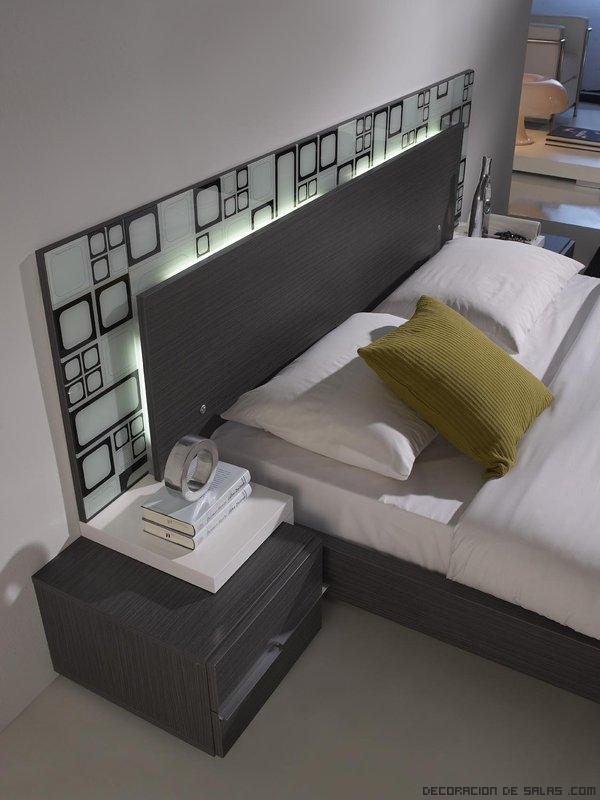 Cabeceros modernos con luz - Luces de pared para dormitorio ...