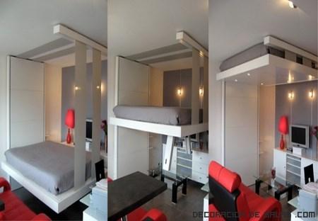 Bed up para dormitorios con poco espacio for Habitaciones juveniles para poco espacio