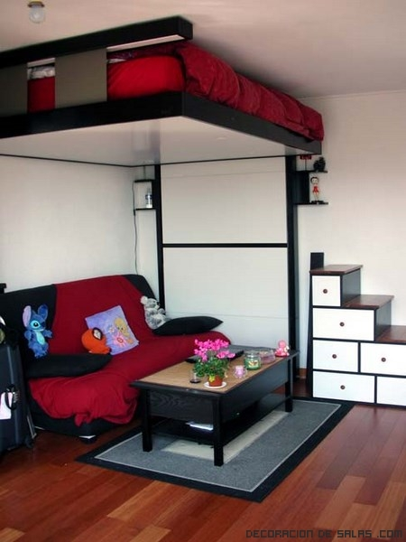 Bed up para dormitorios con poco espacio - Camas dobles infantiles para espacios reducidos ...