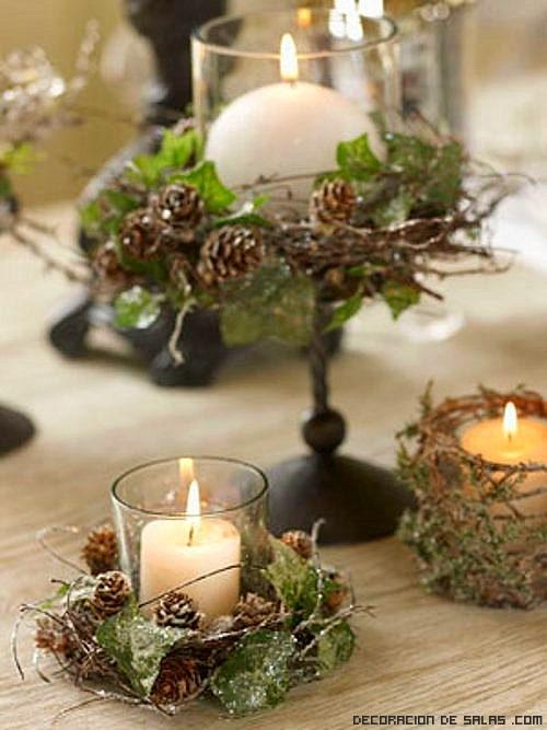 Centros de mesa navide os - Pinas decoradas para centro de mesa ...