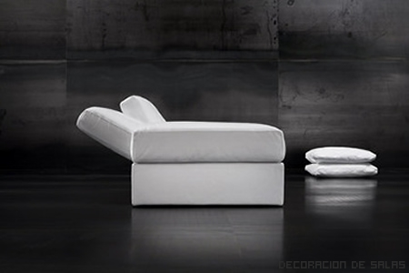 Chaise longue blanca