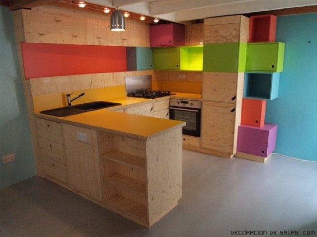 Cocinas muy coloridas - Cocina de color ...