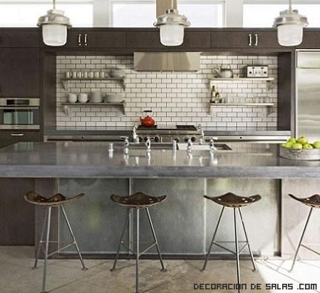 Cocinas de estilo industrial - Decoracion de cocinas industriales ...