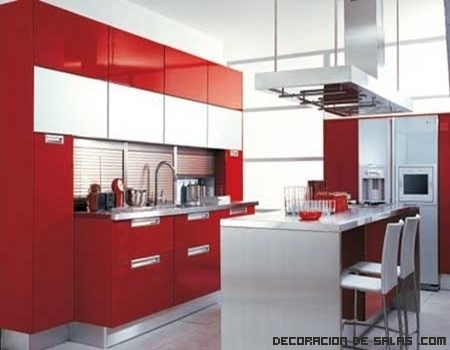 Stylish kitchen on pinterest purple kitchen red kitchen - Cocinas color rojo ...