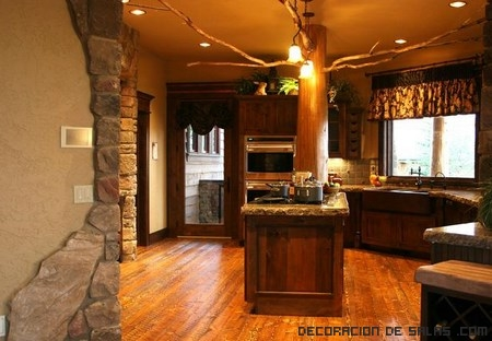Una decoraci n r stica pero con glamour - Iluminacion rustica interior ...
