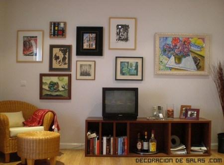 Formas diferentes de colgar cuadros - Cuadros para encima del sofa ...