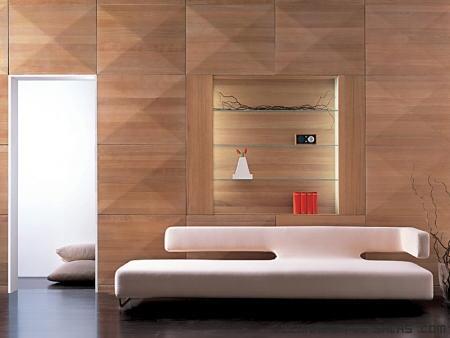 placas de madera en la pared