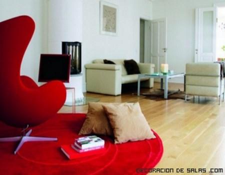 sofás en color rojo