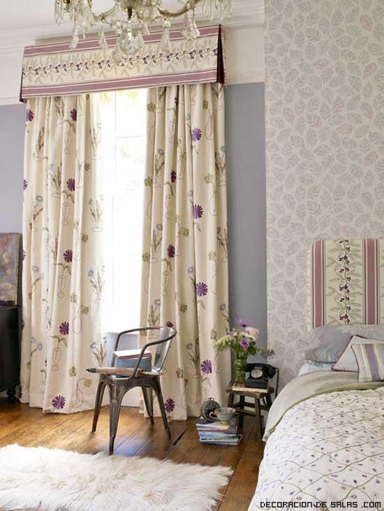 Cortinas de flores para todas las habitaciones for Lo ultimo en cortinas para dormitorios