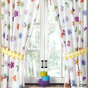Cortinas de flores para todas las habitaciones - Cortinas para habitaciones infantiles ...