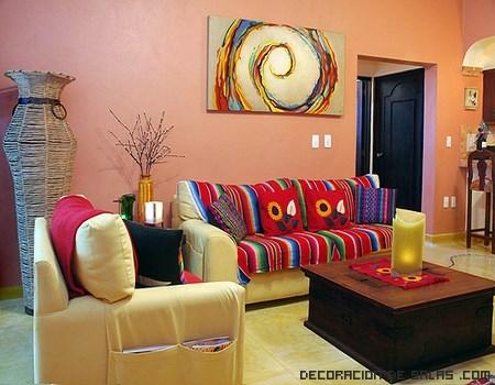 the gallery for decoracion de interiores salas On decoracion mexicana moderna