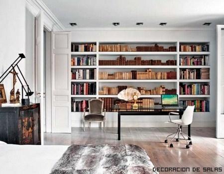 Decora tu casa con librer as for Librerias para salones modernos