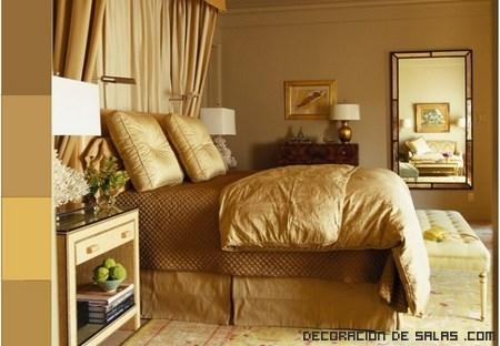 Consejos para decorar con tonos dorados - Pintura dorada para paredes ...
