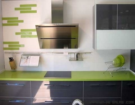 Encimeras de color verde for Encimeras silestone colores