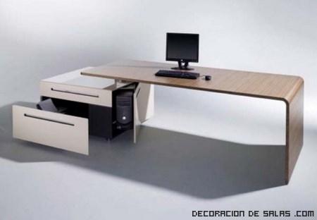 Cuatro escritorios de oficina