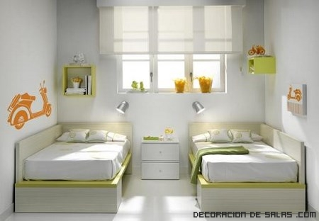 Ideas para un dormitorio de gemelas for Un poco chambre separee