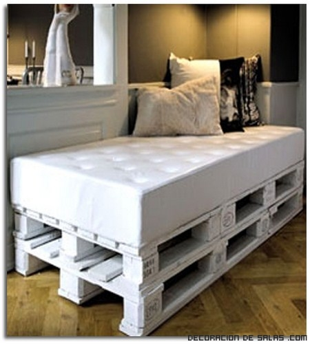 Ideas de muebles reciclados con palets for Ideas muebles