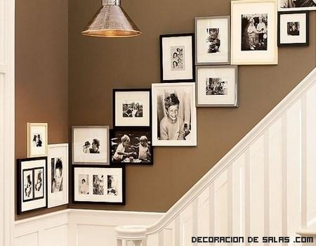 Formas diferentes de colgar cuadros for Cuadros para escaleras