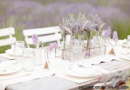 jarrones pequeños para mesas de boda