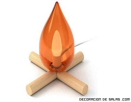 Una lámpara con forma de hoguera