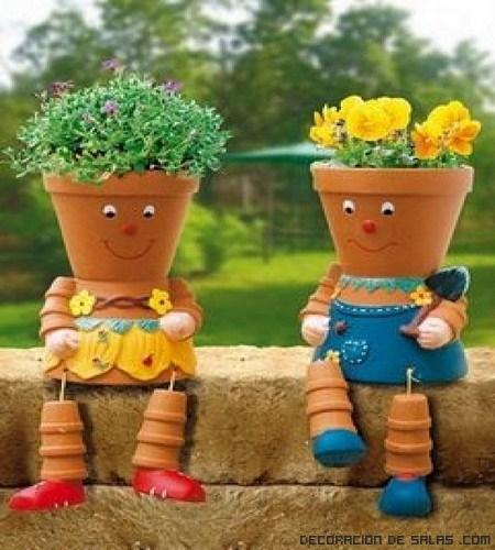 Macetas muy originales para alegrar tu hogar - Pot de couleur jardin ...