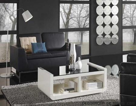 Mesas de centro en blanco
