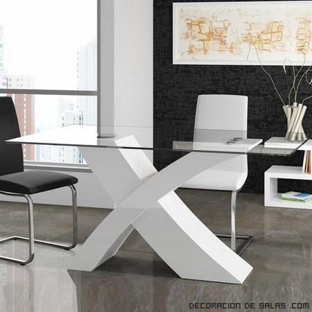 Mesas de comedor modernas for Comedores minimalistas de cristal