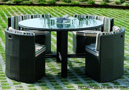Mesas redondas para el jard n - Mesas para jardin ...