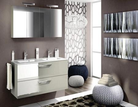 3 tipos de espejos para ba os for Muebles de bano minimalistas