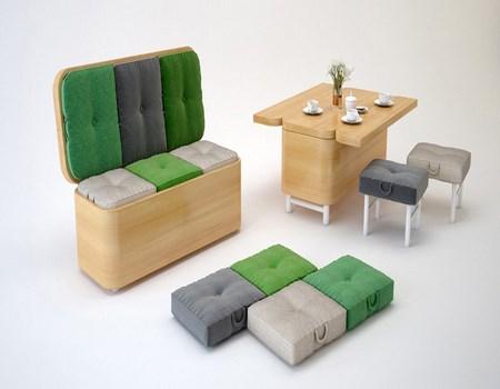 Sof que se convierte en mesa for Muebles convertibles