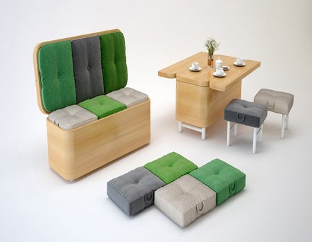 Sof que se convierte en mesa - Muebles convertibles ...