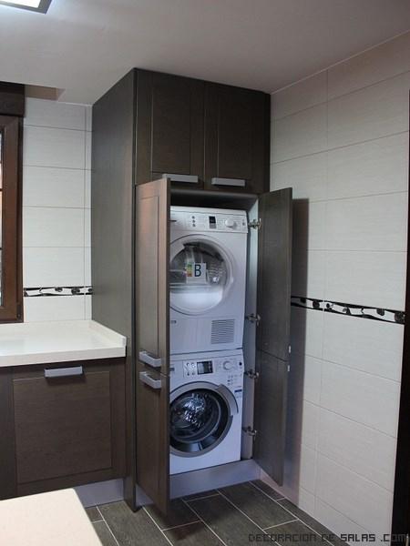 Coloca tu lavadora en el ba o for Mueble para lavadora ikea