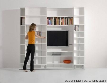 Ideas para ocultar la televisi n - Muebles para teles ...