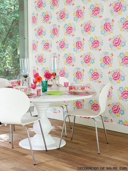 Combina el papel pintado de colores - Paredes de colores decoracion ...
