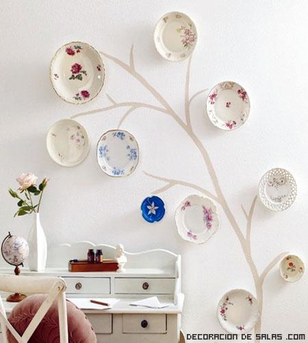 Platos decorativos para tus paredes - Cosas originales para decorar ...