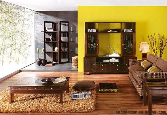 Salones en amarillo - Paredes de salon ...