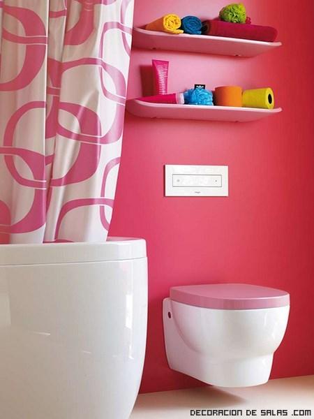 Baños en color rosa
