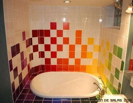 Pintando los azulejos for Azulejo para pared de sala