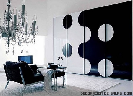Salones elegantes en blanco y negro